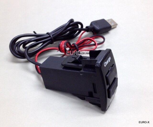 CAR USB Port Fast Charger Dash Mount 5V 1.2A + Audio Input for HONDA L #Agtc