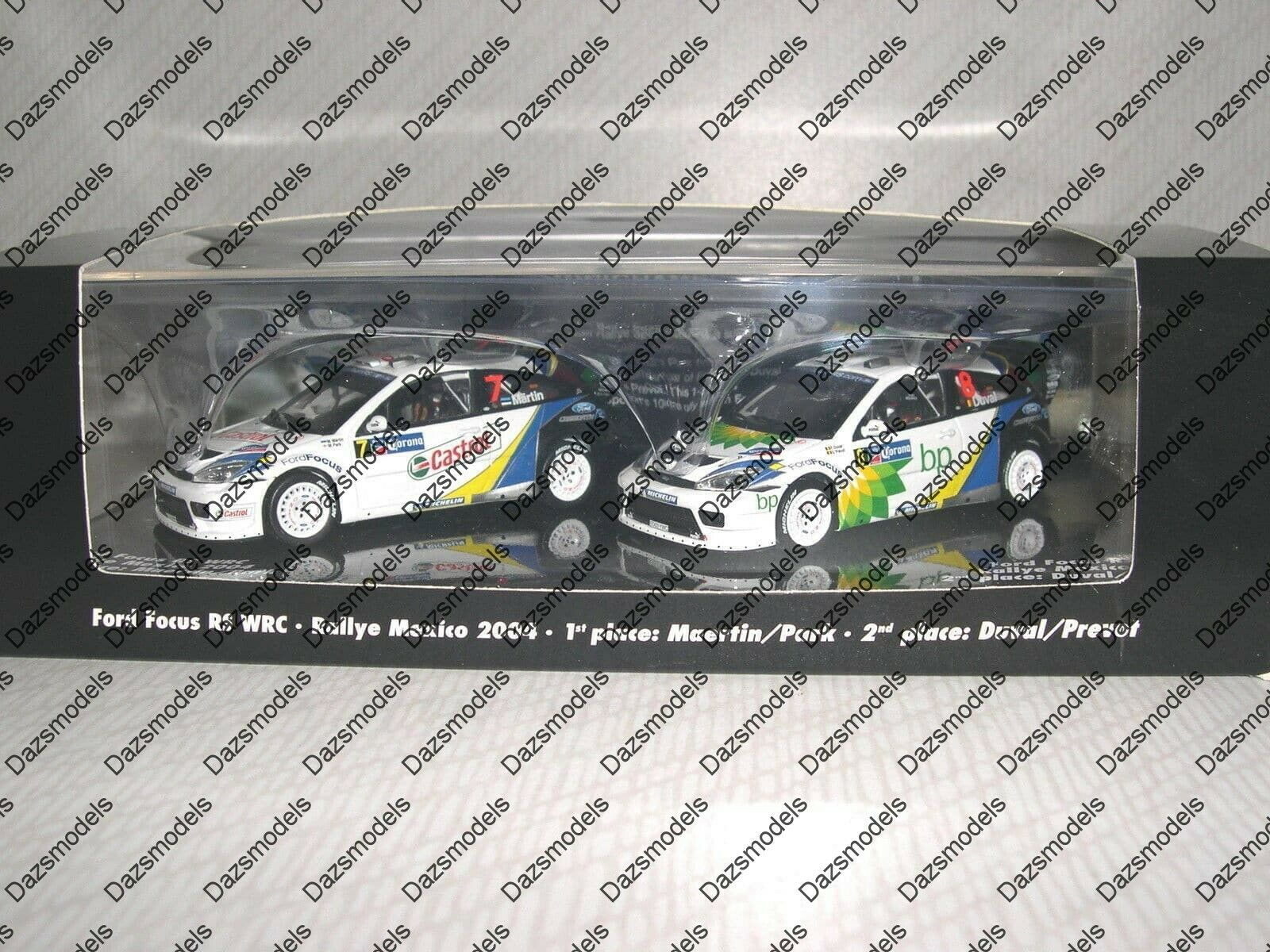 Minichamps Ford Focus WRC Rallye Mexico 2004 1st   2nd placed