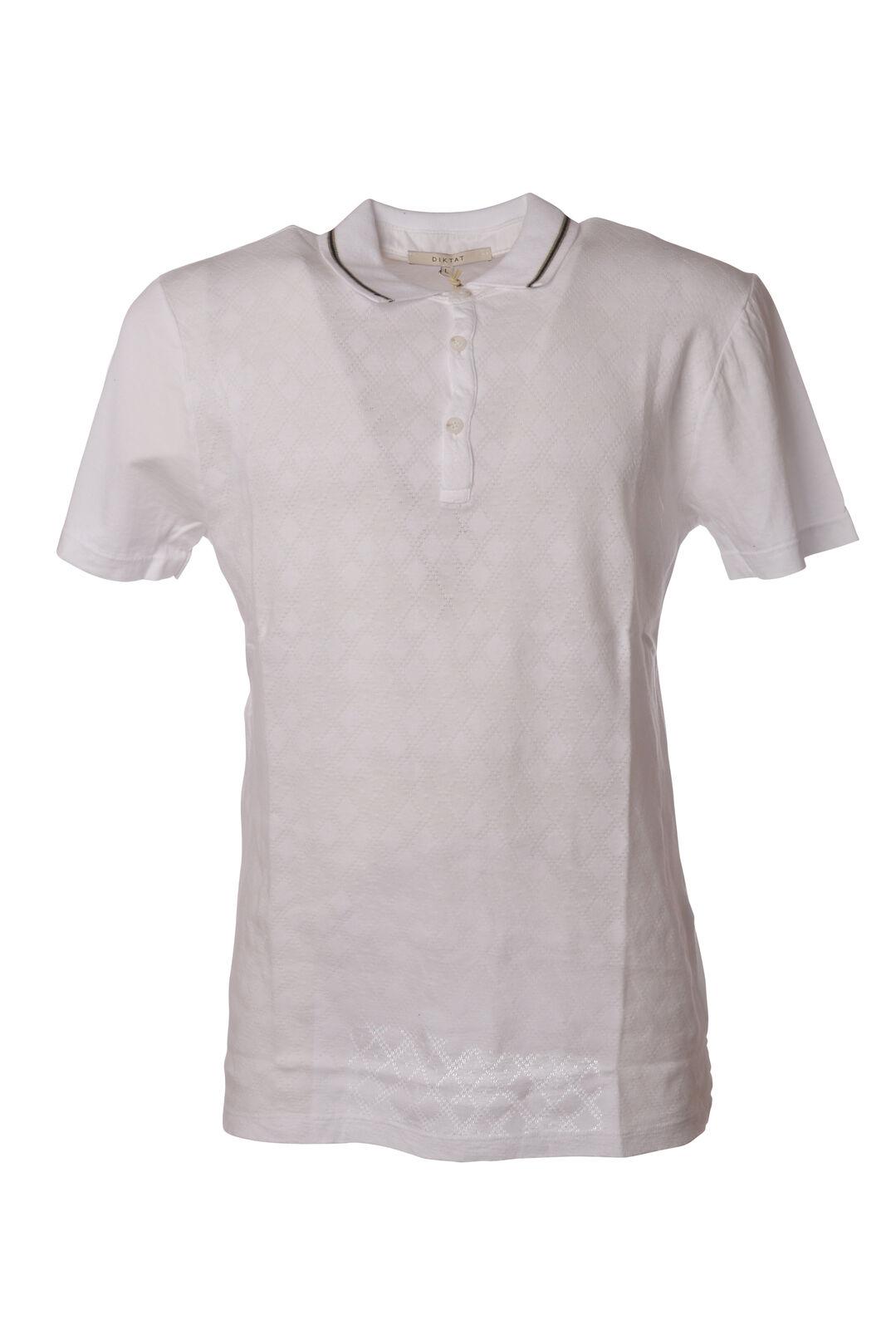 Diktat - Topwear-Polo - Man - White - 5250912F183704
