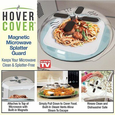 Hover Cover Magnetic Microwave Food Cover Case As Seen On Tv New Free Shipping