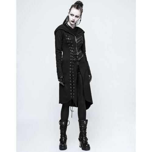 Punk Rave Steampunk MantelResident Gothic Schnürung Damen Kunstleder Military OkXwP08n