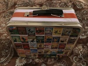 Starbucks Coffee Gear World Blend Stamps Metal Lunch Box, Tin Lunchbox