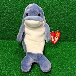 95554cffee1 New Ty Beanie Baby 1996 Echo The Dolphin Retired Plush Toy MWMT ...