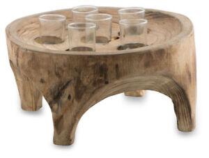 Tealight-Holder-Round-Wood-33-x-33-x-15cm