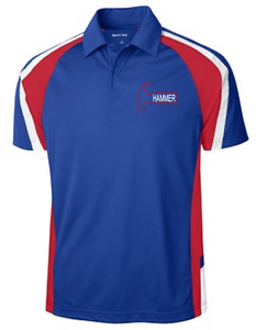 Hammer Men's Burn Performance Polo Bowling Shirt Dri Fit Royal