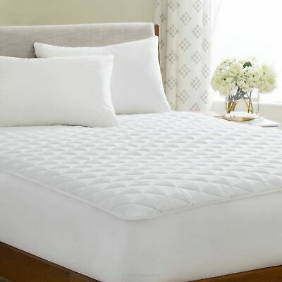 King Quilted Mattress Protector Single Double Super King Size