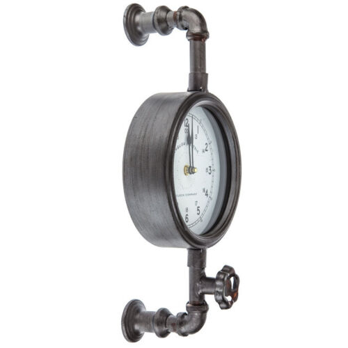 Great Gift Industrial Pipe Wall Clock Contemporary Home Decor