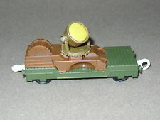 THOMAS THE TRAIN GULLANE MATTEL 2009 GREEN & BROWN FLATBED WITH SPOT LIGHT