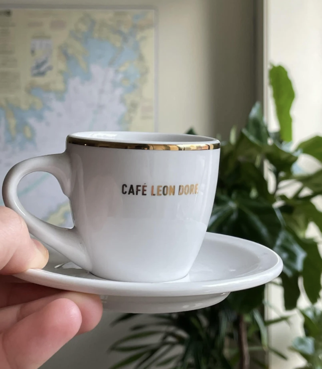 Aime Leon Dore Café Leon Dore Espresso Cup White mug White