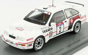 SPARK-MODEL 1/43 FORD ENGLAND   RS COSWORTH N 2 RALLY TOUR DE CORSE 1987 S.BL...
