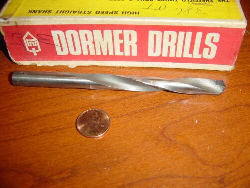 letter W 0.386 dia carbide tipped jobber drill Dormer England HSS machine shop