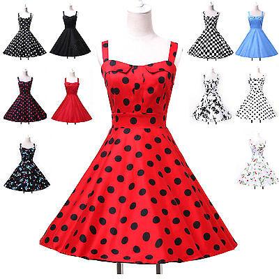 Petticoat Vintage Short 60s Polka Swing Jive Dress Housewife Dresses