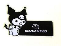 X1 Mazda Kuromi Devil Hello Kitty Emblem Japan Rare Jdm