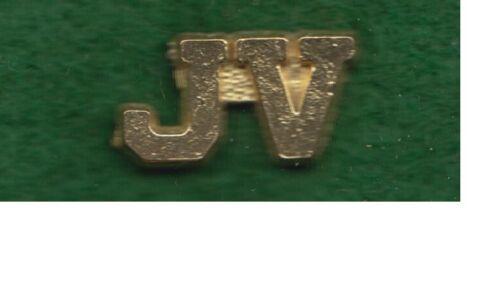 High School JV Junior Varsity Letterman Jacket Pin gold tone