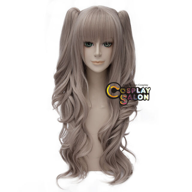 Manga Charlotte Nao Tomori Cosplay Wig Grau Perücke Haar +2ponytail Halloween