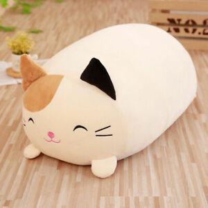 Soft-plush-pillow-cute-cat-animal-cartoon-sleeping-long-Cushions-lumbar-pad