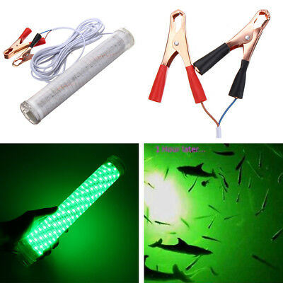 12V 30W Green LED Underwater Submersible Fishing Light Waterproof 2400LM Outdoor