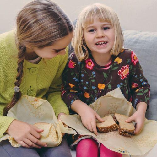 Nachhaltigkeit Bees Wrap Sandwich Bezüge 33cm Wabe Wiederverwendbar Essen