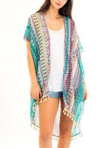 Women-039-s-Boho-Sleeveless-Chiffon-Kimono-Cardigan-See-Through-Cover-Up-Blous