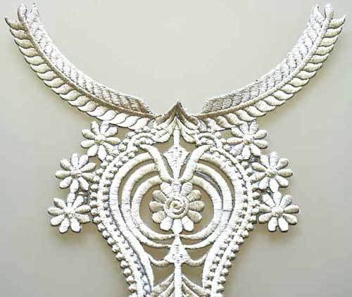 Iron On Trim for Neckline from India. Easy DIY. Silver
