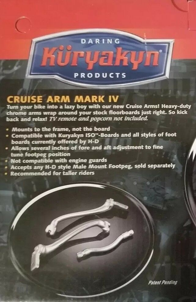 Kuryakyn 7841 Extended Length Chrome Cruise Arm Mark IV /'00-17 Harley FL Softail