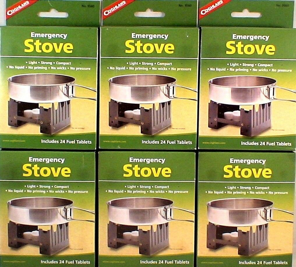 6-SURVIVAL EMERGENCY STOVES W  144 HEXAMINE ESBIT FUEL TABLETS KEEP WARM COOK