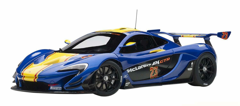 precio razonable Autoart 1 18 18 18 McLaren P1 GTR Azul amarillo Pvc  ventas al por mayor