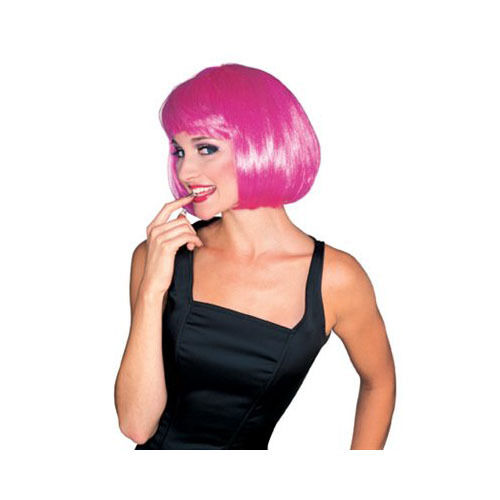 Hot Pink Super Model Wig Costume Party Wig
