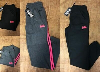 Details about Lonsdale London Ladies Kids Fleece Jogging Pants Tracksuit Bottoms Sweatpants