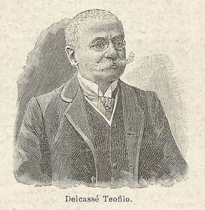 GéNéReuse A6794 Delcassé Teofilo - Stampa Antica Del 1932 - Xilografia