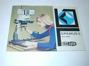 MEOPTA OPEMUS 5 notice pour agrandisseur photo photographie