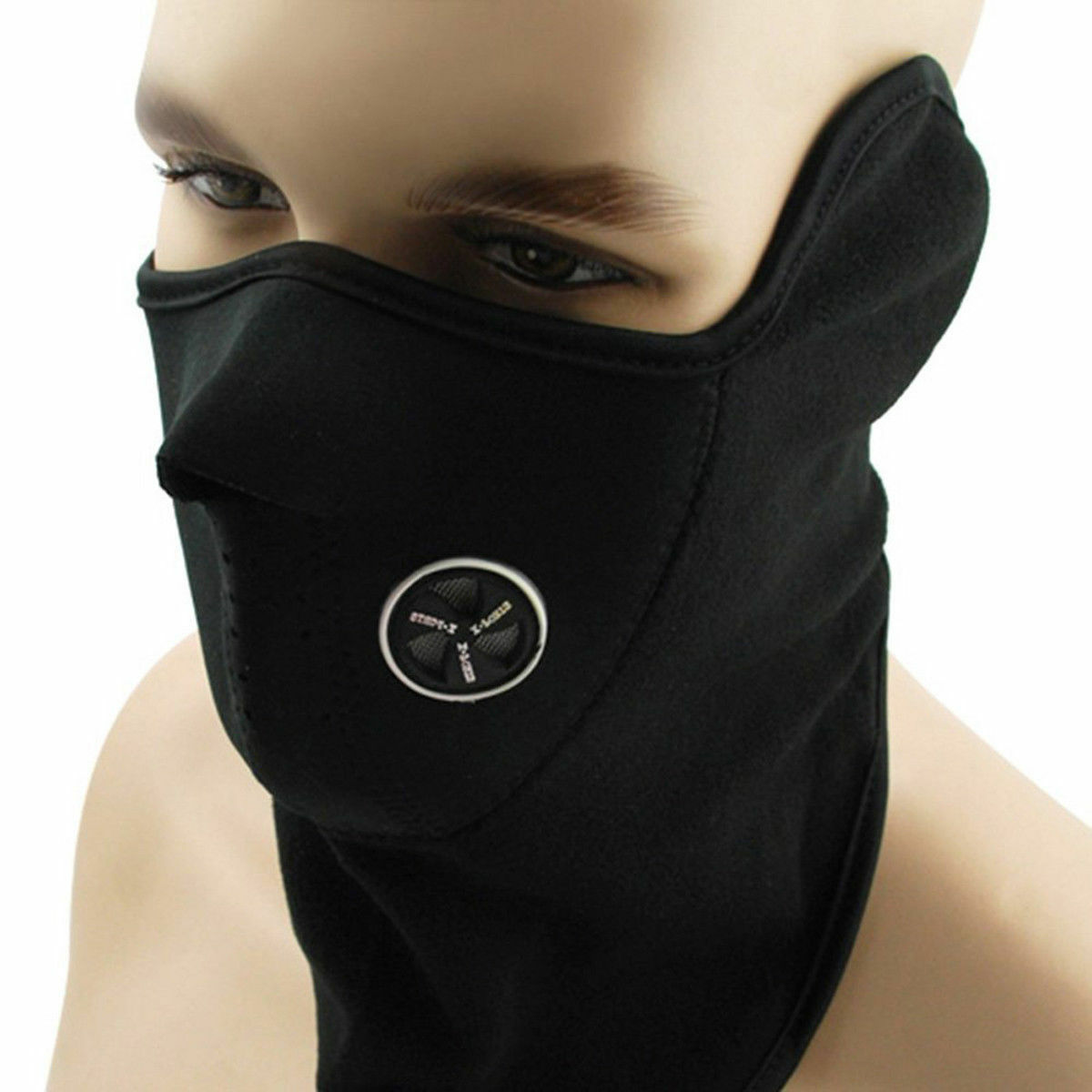 Motorcycle Bike Cycling Winter Half Face Mask Skull Ski Snow Headwear Neoprene