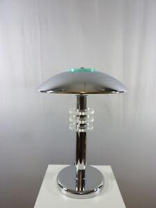 Halogen-Tischleuchte-in-chrom-Arbeitsleuchte-Tischlampe-Lampe-Nachttischleuchte