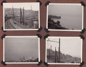 § TRIESTE 1941 - 8 piccole foto fatte da militare su una tradotta italo-tedesca