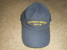 USS Ronald Reagan CVN 76 Hat Baseball Ball Cap Navy Blue Mens Adjustable OSFM