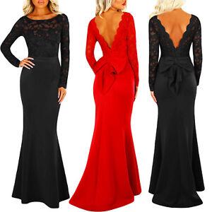 Vestido-de-mujer-sirena-vestido-largo-escotado-por-detras-encaje-sexy-DL-2216