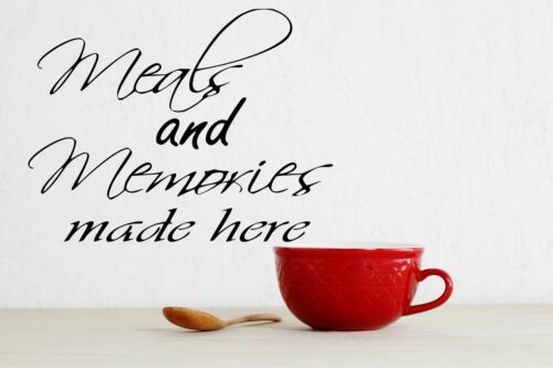 Meals and Memories Made Here kitchen Vinyl Decal Sticker, Wall Decor