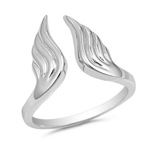Plain Angel Wings .925 Sterling Silver Ring Sizes 5-10