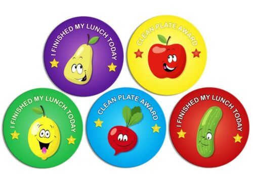 X144 WELL DONE GOOD EATING REWARD STICKERS LUNCHTIME  TEACHER SCHOOL LABELS KIDS