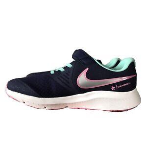 Nike-girls-youth-star-Runner-2-PSV-shoes-Dark-Purple-Green-Gray-Pink-new