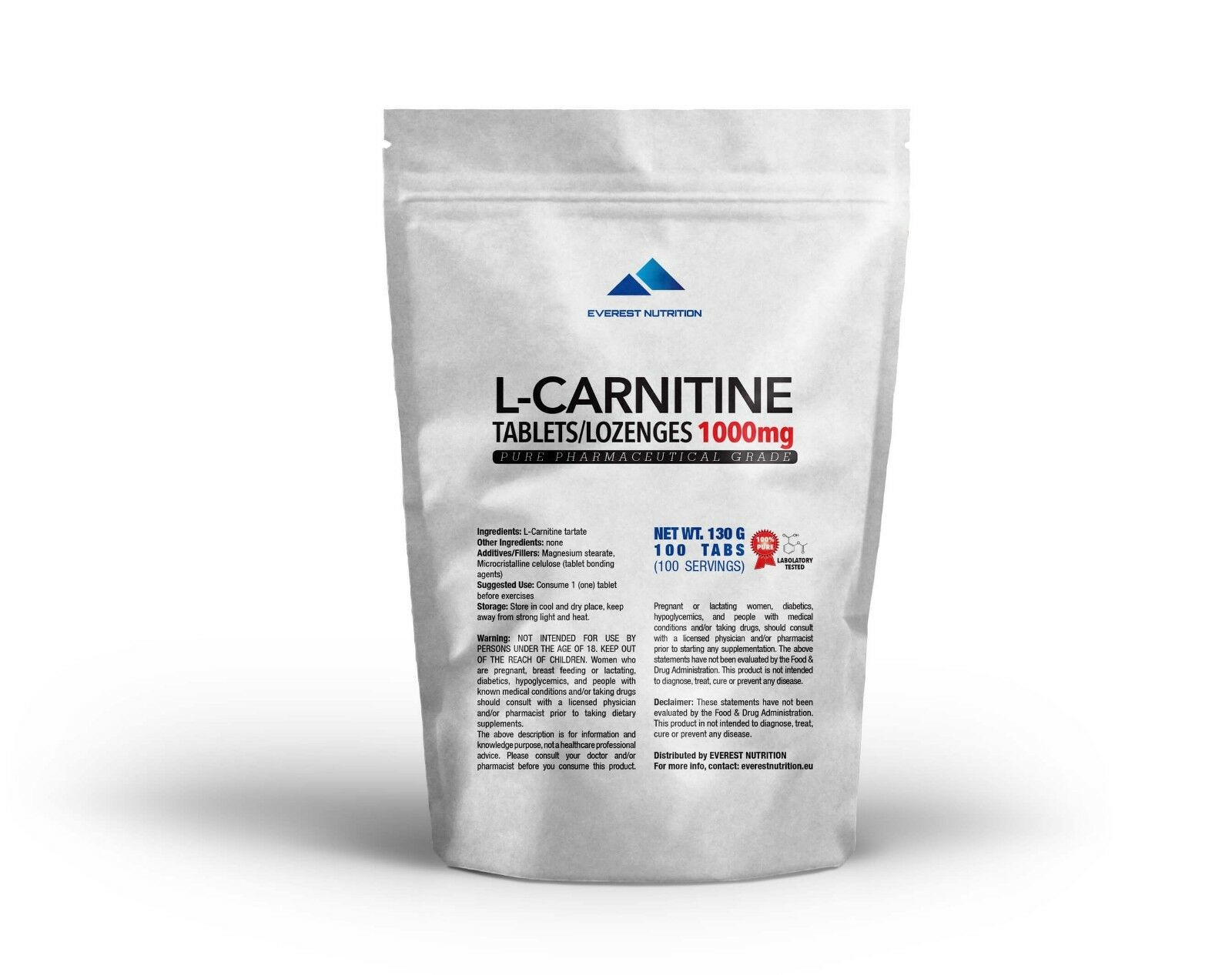 L-Carnitine Carnitine tablets   lozenges 1000mg Pure Pharmaceutical Quality