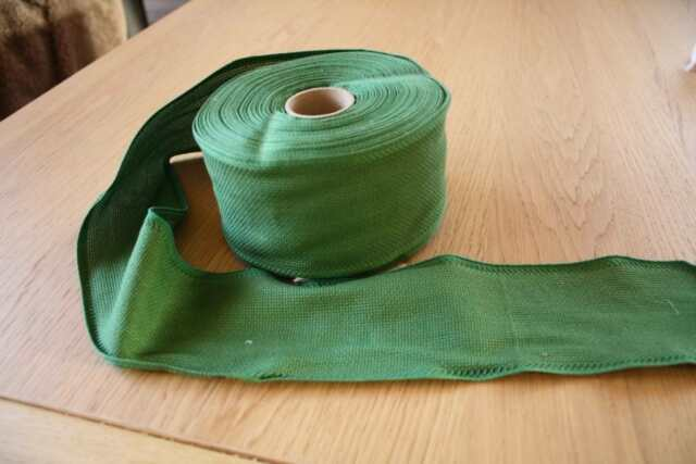 Aida-Stickband,grün, 8 cm Breit