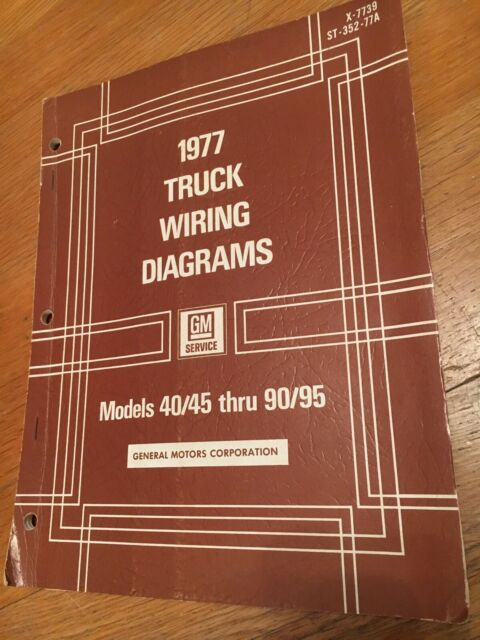 1977 GM GENERAL MOTORS TRUCKS WIRING DIAGRAMS MANUAL ...