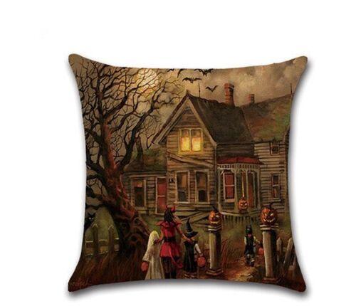 "18/"" Halloween Series Sofa Cushion Cover Printing Throw Pillow Pillowcase Decor"