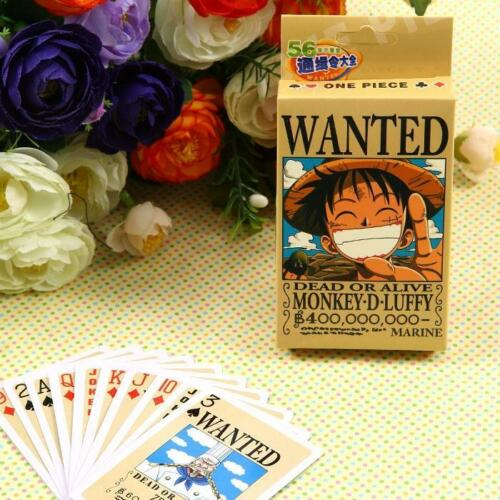 Japanese Anime One Piece Paper Game Playing cards Poker Cards B