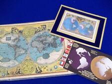 Vintage Globe World Earth USA Decal Paper set Lot Meyercord