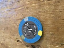 LAS VEGAS CASINO CHIP. $1 ~ BELLAGIO HOTEL/CASINO FREE P&P UK ONLY