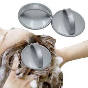 Silikon-Shampoo-Kopfhaut-Dusche-Waschen-Haar-Massage-Massagebuerste-Grau-flYfE