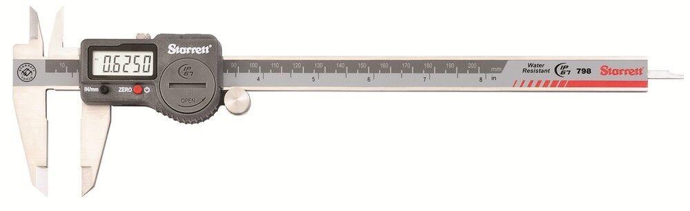 Starrett 798B-8/200 Digital Vernier Caliper Water Resistant IP67 200mm/8