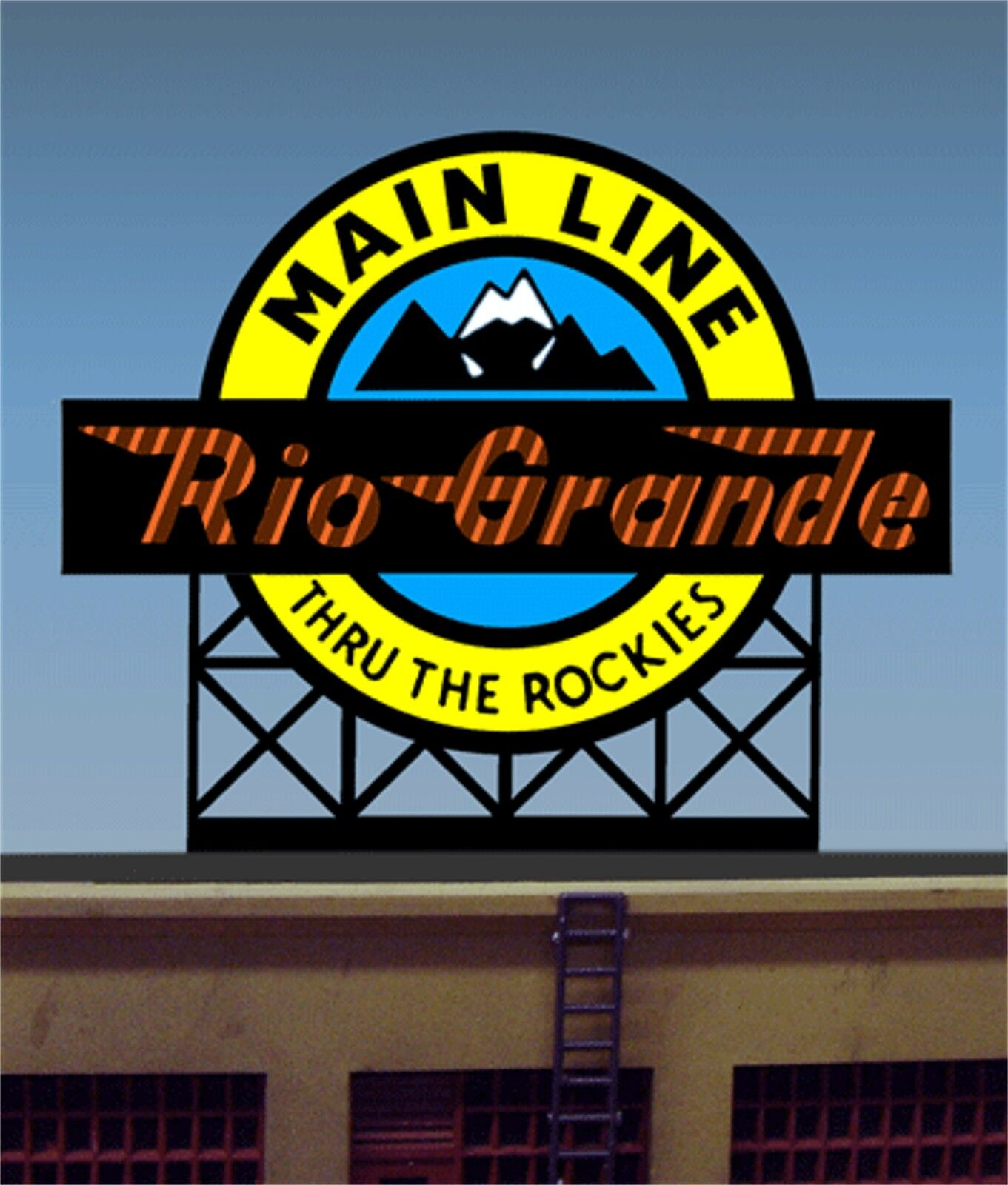 Miller's Rio Grande Billboard Animated Neon Sign O HO 88-0601 MILLER ENGINEERING